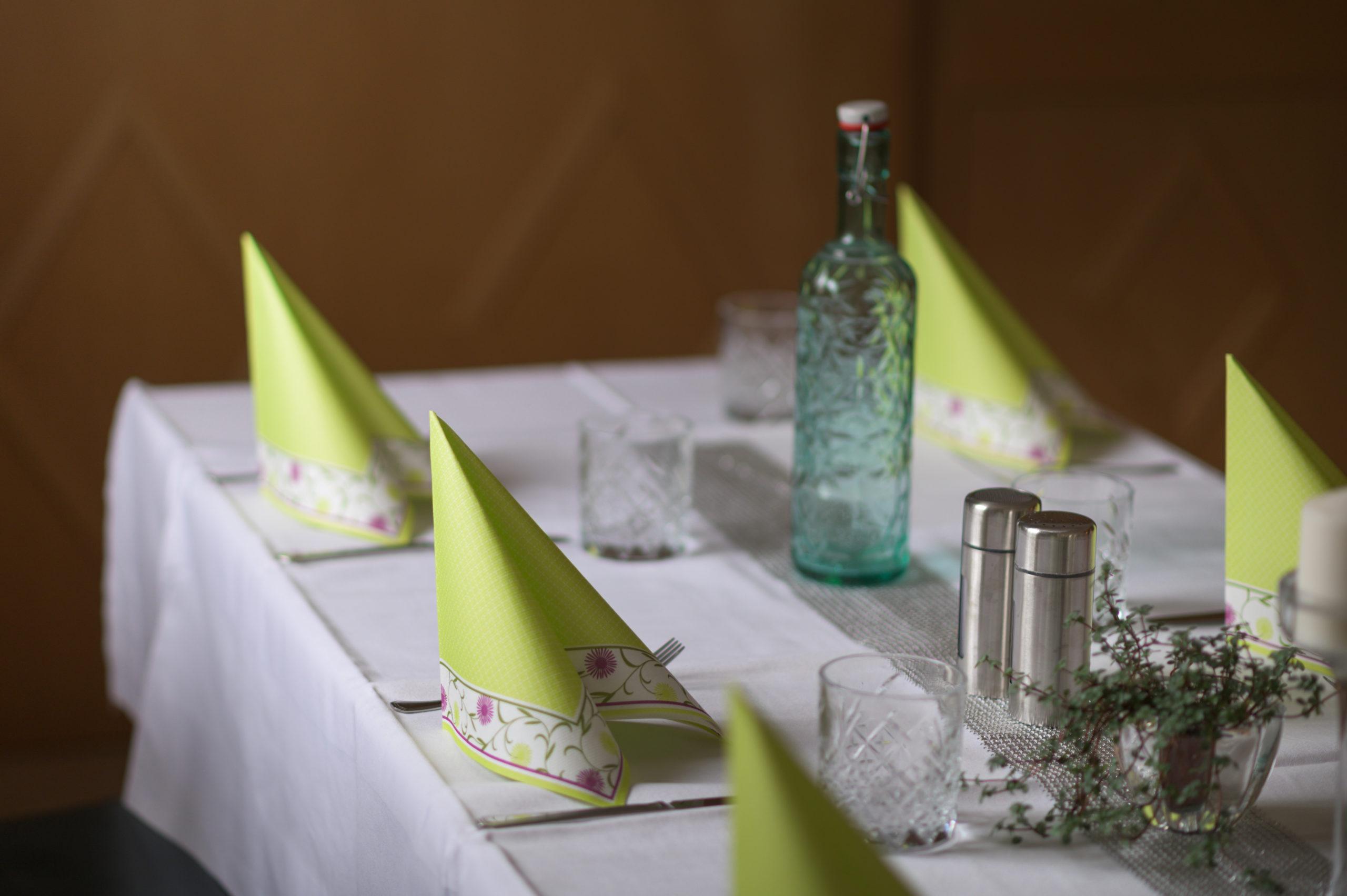 Eingedeckter Tisch Landgasthaus Weiß
